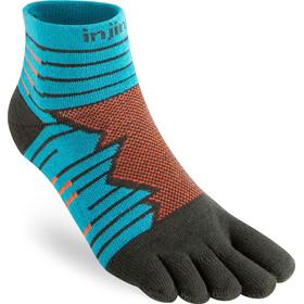 Injinji Run Technical Mini Crew Socks Men, azul/marrón